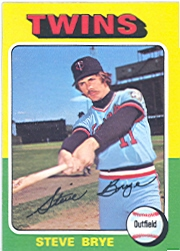 1975 Topps Mini Baseball Cards      151     Steve Brye
