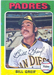 1975 Topps Mini Baseball Cards      168     Bill Greif