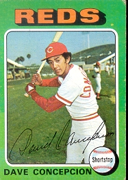 1975 Topps Baseball Cards      017      Dave Concepcion