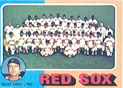 1975 Topps Mini Baseball Cards      172     Boston Red Sox CL/Darrell Johnson