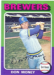 1975 Topps Baseball Cards      175     Don Money