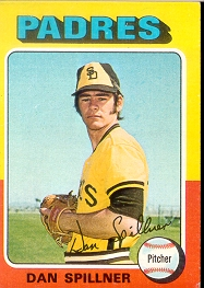 1975 Topps Mini Baseball Cards      222     Dan Spillner RC