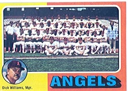 1975 Topps Mini Baseball Cards      236     California Angels CL/Dick Williams