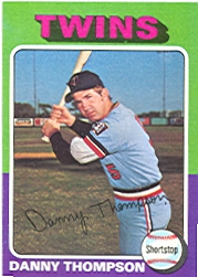 1975 Topps Mini Baseball Cards      249     Danny Thompson