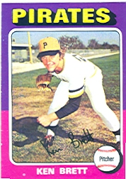 1975 Topps Mini Baseball Cards      250     Ken Brett