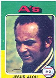 1975 Topps Mini Baseball Cards      253     Jesus Alou