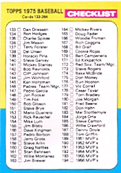 1975 Topps Baseball Cards      257     Checklist: 133-264