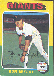 1975 Topps Baseball Cards      265     Ron Bryant