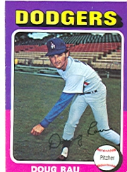 1975 Topps Mini Baseball Cards      269     Doug Rau