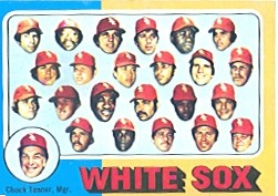 1975 Topps Mini Baseball Cards      276     Chicago White Sox CL/Chuck Tanner