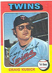 1975 Topps Mini Baseball Cards      297     Craig Kusick RC