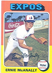 1975 Topps Mini Baseball Cards      318     Ernie McAnally