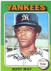 1975 Topps Baseball Cards      321     Rudy May