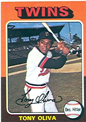 1975 Topps Mini Baseball Cards      325     Tony Oliva