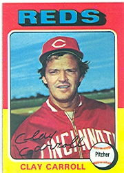 1975 Topps Baseball Cards      345     Clay Carroll