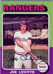 1975 Topps Baseball Cards      036      Joe Lovitto