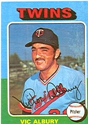 1975 Topps Baseball Cards      368     Vic Albury