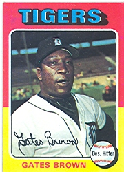 1975 Topps Baseball Cards      371     Gates Brown