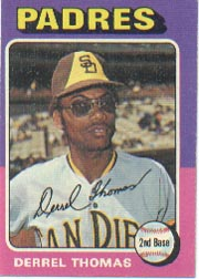1975 Topps Mini Baseball Cards      378     Derrel Thomas