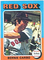 1975 Topps Mini Baseball Cards      379     Bernie Carbo