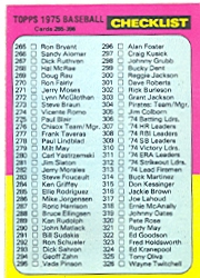 1975 Topps Baseball Cards      386     Checklist: 265-396 UER