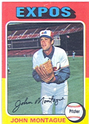 1975 Topps Baseball Cards      405     John Montague RC