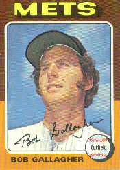 1975 Topps Baseball Cards      406     Bob Gallagher
