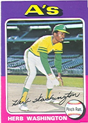 1975 Topps Baseball Cards      407     Herb Washington RC