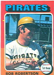 1975 Topps Mini Baseball Cards      409     Bob Robertson