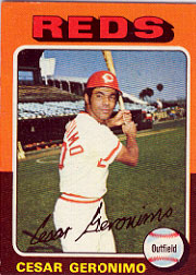 1975 Topps Baseball Cards      041      Cesar Geronimo