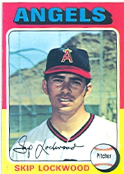 1975 Topps Mini Baseball Cards      417     Skip Lockwood