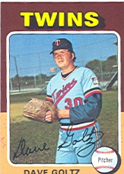1975 Topps Mini Baseball Cards      419     Dave Goltz