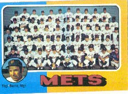 1975 Topps Baseball Cards      421     New York Mets CL/Yogi Berra