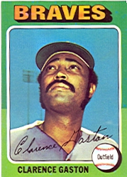 1975 Topps Baseball Cards      427     Clarence Gaston