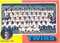1975 Topps Baseball Cards      443     Minnesota Twins CL/Frank Quilici