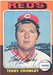 1975 Topps Mini Baseball Cards      447     Terry Crowley