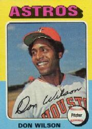 1975 Topps Baseball Cards      455     Don Wilson