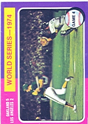 1975 Topps Mini Baseball Cards      464     A's Batter WS4