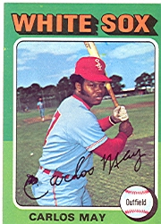 1975 Topps Mini Baseball Cards      480     Carlos May