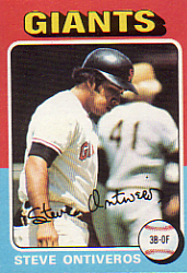 1975 Topps Baseball Cards      483     Steve Ontiveros