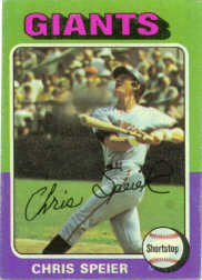 1975 Topps Baseball Cards      505     Chris Speier