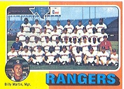 1975 Topps Baseball Cards      511     Texas Rangers CL/Billy Martin