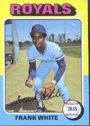 1975 Topps Baseball Cards      569     Frank White