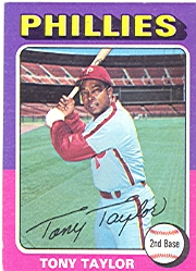 1975 Topps Baseball Cards      574     Tony Taylor