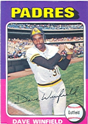 1975 Topps Mini Baseball Cards      061      Dave Winfield