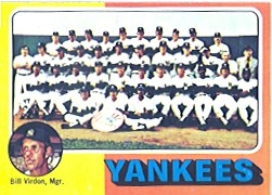 1975 Topps Baseball Cards      611     New York Yankees CL/Bill Virdon