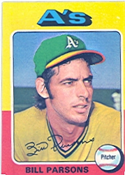 1975 Topps Baseball Cards      613     Bill Parsons