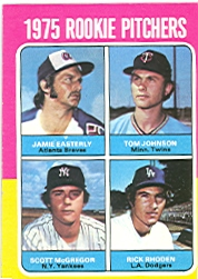 1975 Topps Baseball Cards      618     Jamie Easterly/Tom Johnson/Scott McGregor/Rick Rhoden RC