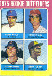 1975 Topps Mini Baseball Cards      619     Benny Ayala/Nyls Nyman/Tommy Smith/Jerry Turner RC