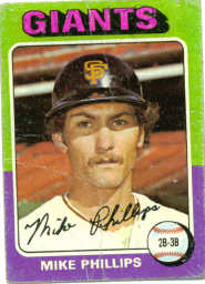 1975 Topps Baseball Cards      642     Mike Phillips